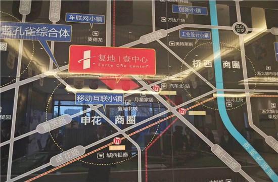 复地.壹中心交通图-小柯网