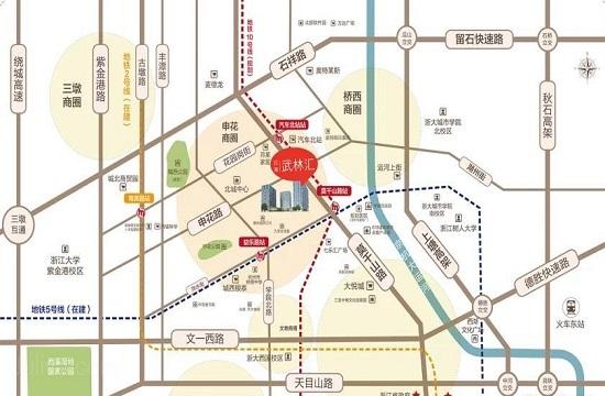 汉港武林汇交通图-小柯网