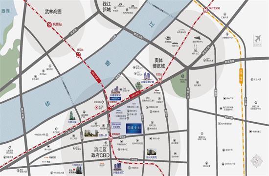 杭州星耀中心交通图-小柯网
