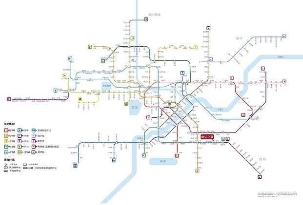 南站之翼交通图-小柯网