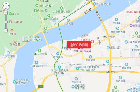 通策广场商铺交通图-小柯网