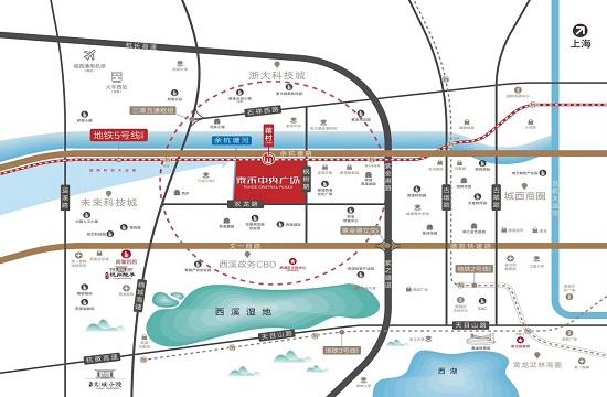 泰禾中央广场商铺交通图-小柯网