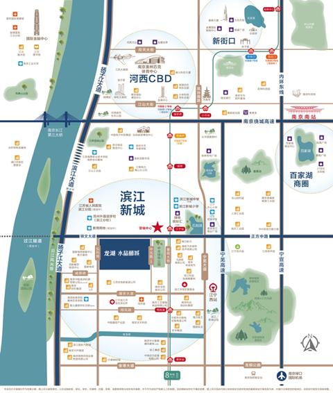 龙湖水晶郦城交通图-小柯网