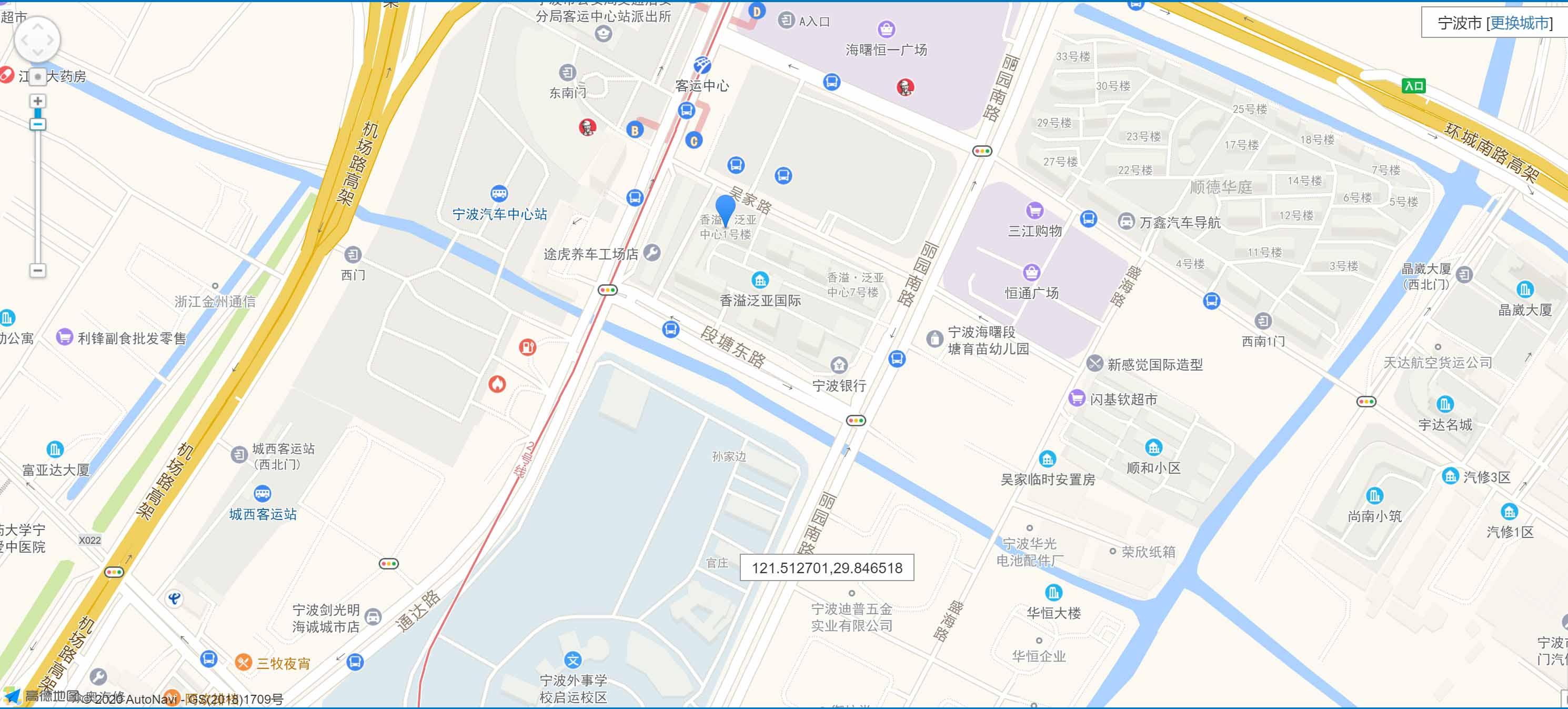 泛亚中心公寓交通图-小柯网