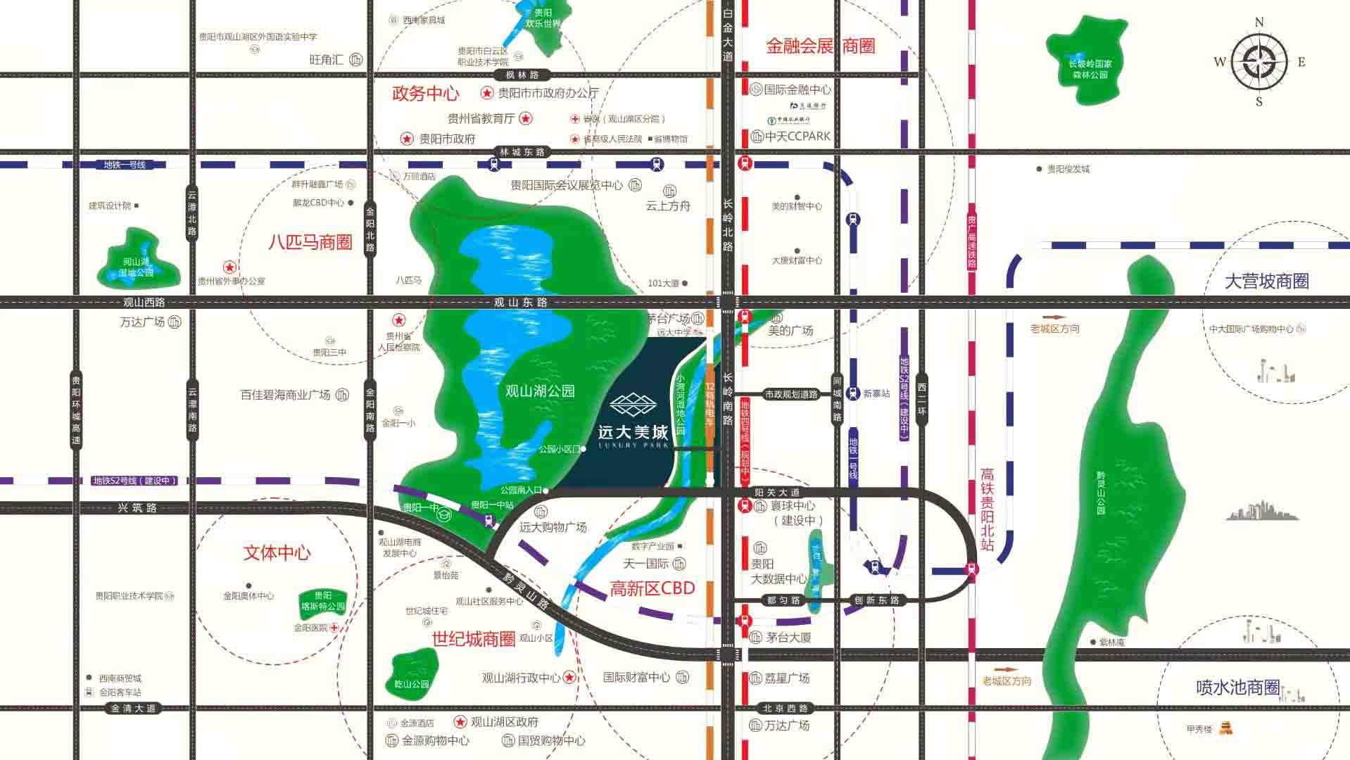 远大生态风景交通图-小柯网