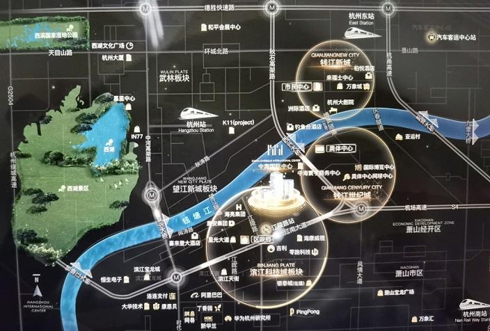 中海国际中心交通图-小柯网