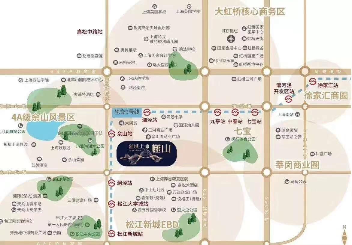 佘山樾里商铺交通图-小柯网