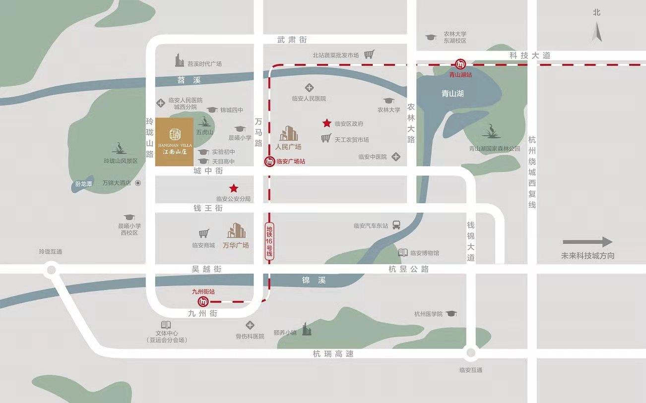 蓝城恒伟江南山庄交通图-小柯网