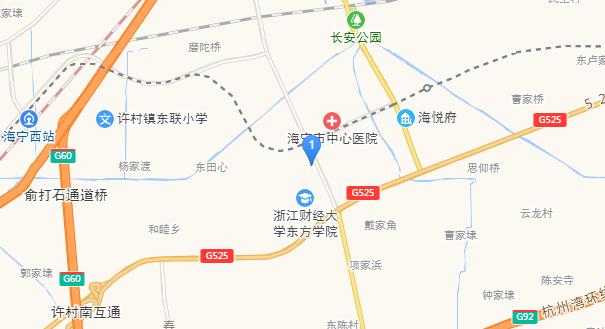 海宁翠园交通图-小柯网
