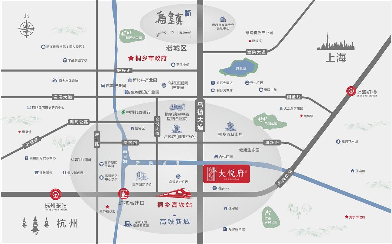 海宁大悦府交通图-小柯网