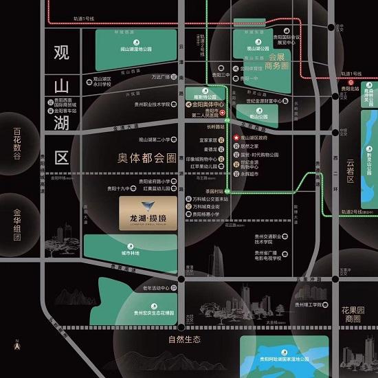 龙湖揽镜交通图-小柯网