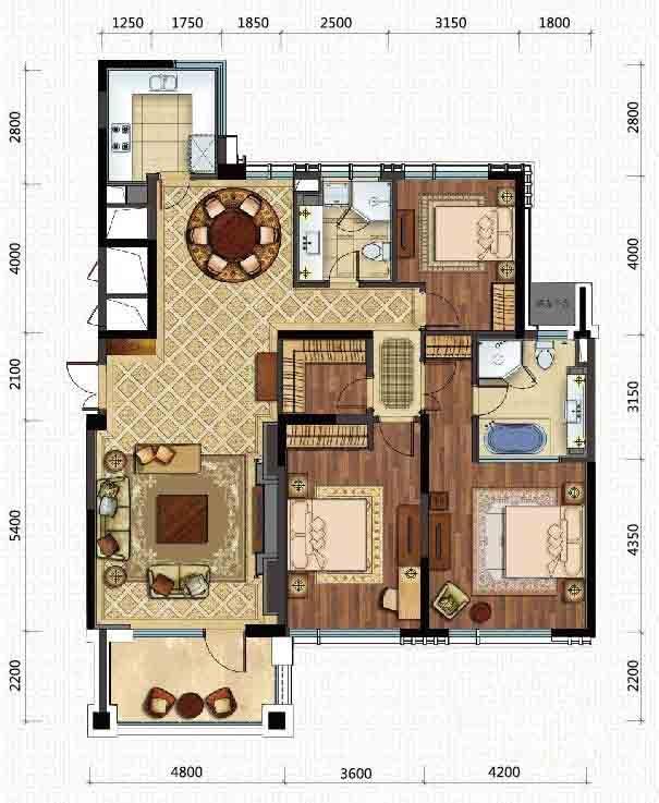 新湖.武林国际公寓户型