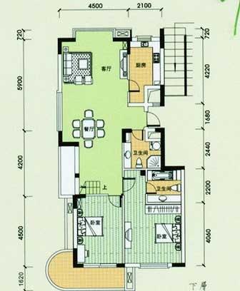 绿洲之馨公寓户型-小柯网