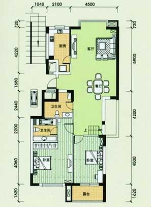 绿洲之馨公寓户型