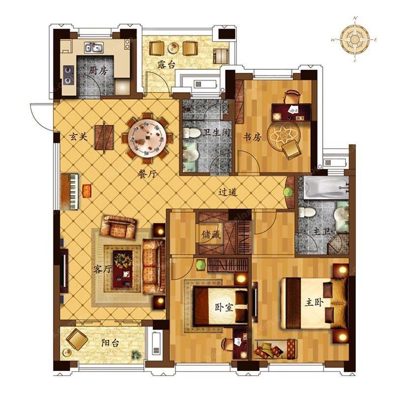 汇盛德堡公寓户型