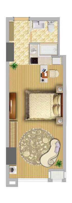 青橙公寓户型